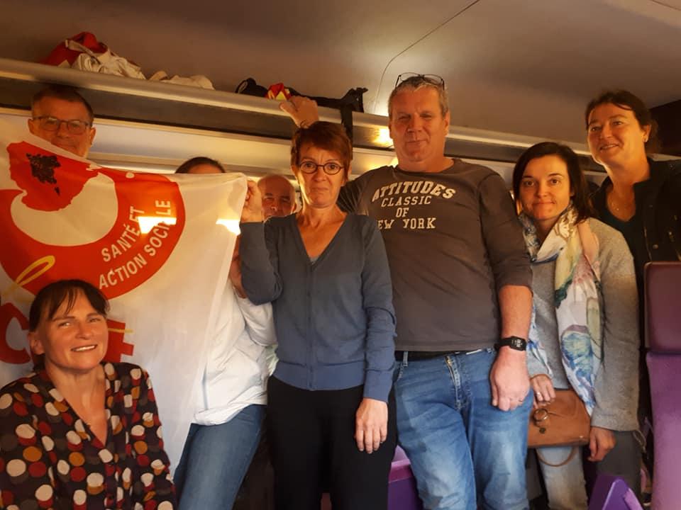 départ en train pour Paris