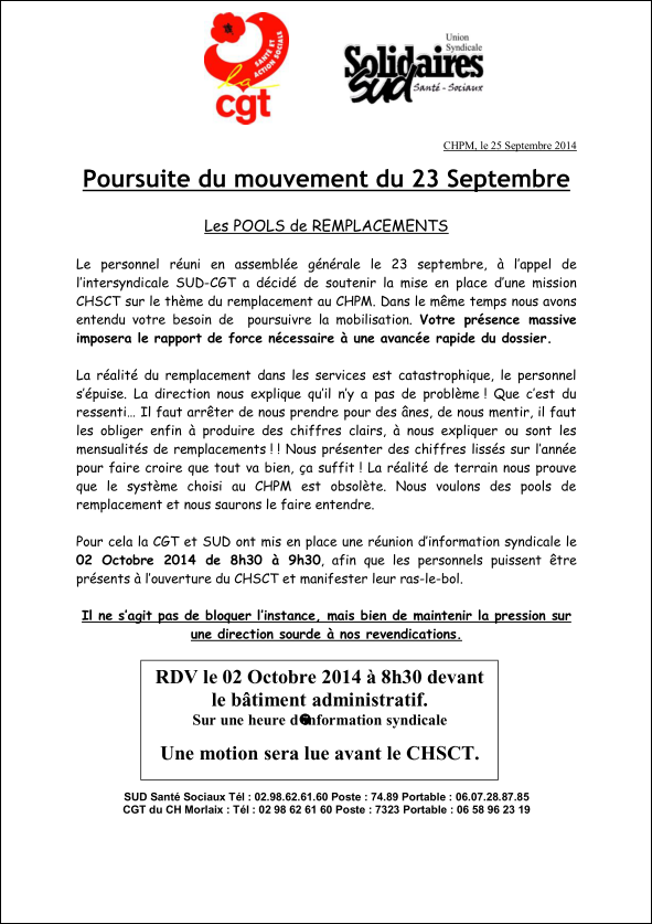 Capture poursuite du mouvement du 23 septembre 2014
