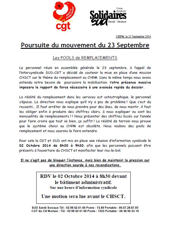 Capture rassemblement CHSCT du 2 octobre 2014