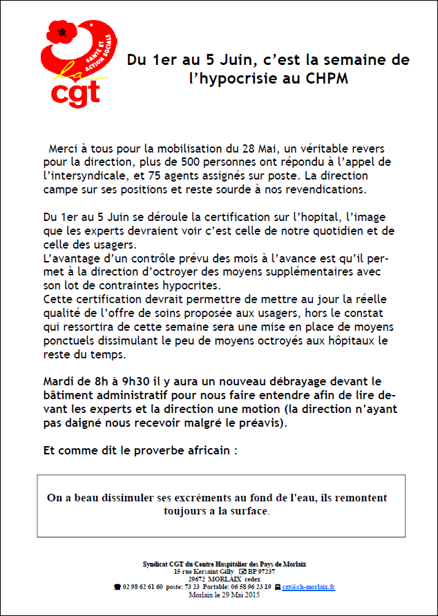 Certification tract 29 mai