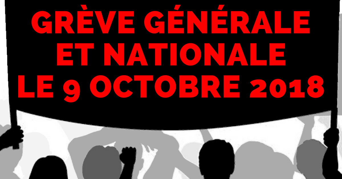 Greve generale 9 octobre
