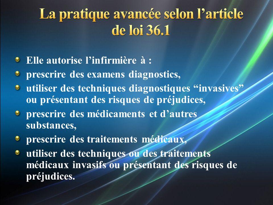 La pratique avancee selon l u2019article de loi 36 1